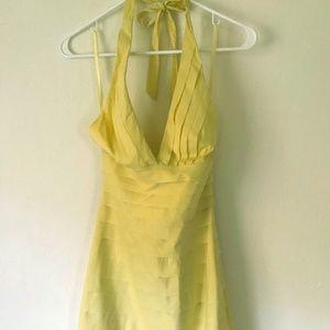 Yellow BCBG Ruffle Halter Dress Size 0 XS